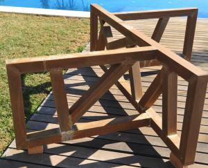 Xplosion estrucuta mesa hierro oxidado Ferratto